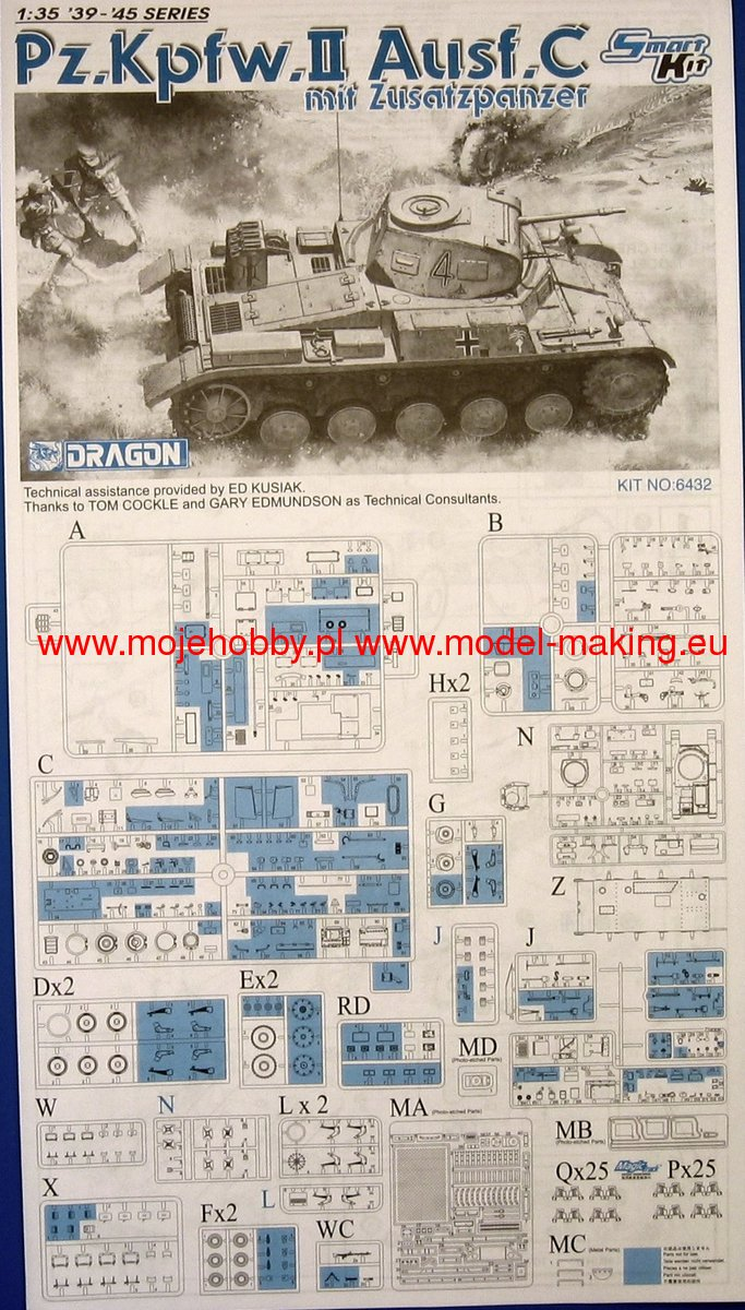 Pz C Puertas Exterior: Pz.Kpfw.II Ausf.C Mit Zusatzpanzer Dragon 6432