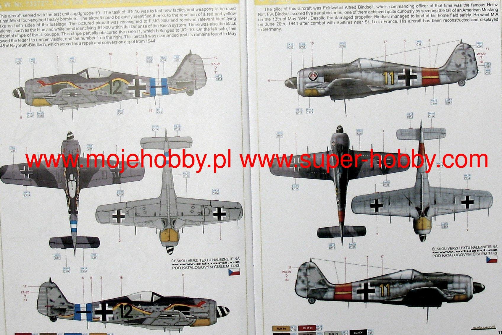 Eduard Weekend Edition échelle 1:72 FW 190A-8 Universal Wings Model Kit 7443