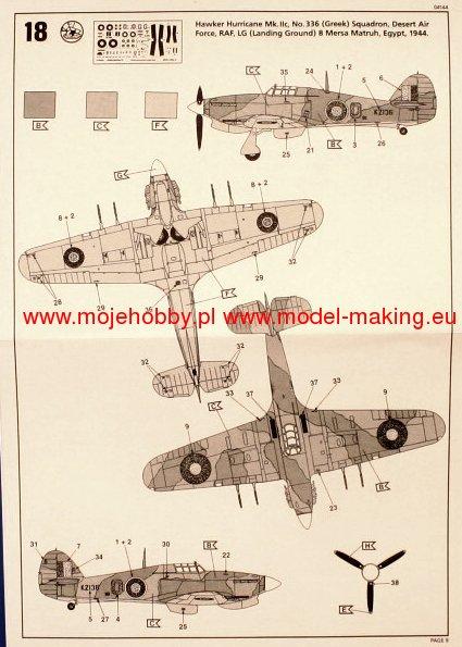 REVELL 64144 échelle 1:72 Hawker Hurricane MKII Model Set