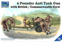 6 Pounder Anti Tank Gun with British / Commonwealth Crew