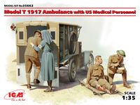 Model T 1917 Ambulance with US Medical Personnel - Image 1