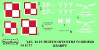 Yak-18 SP-YYY decal + mask