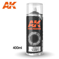 AK1009 FINE PRIMER BLACK SPRAY
