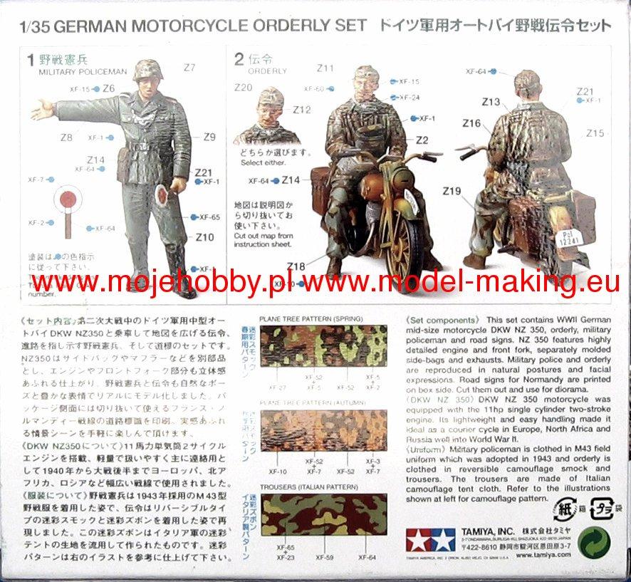 TAMIYA 35241 German Motorcycle Orderly Set Model Kit en échelle 1:35