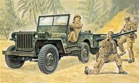 Willys MB Jeep with Trailer - Image 1