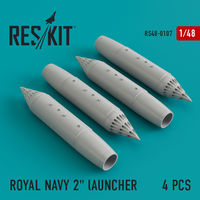 "ROYAL NAVY 2"" lAUNCHER  (4 pcs) Phantom, Harrier, Sea Vixen, Buccaneer - Image 1"