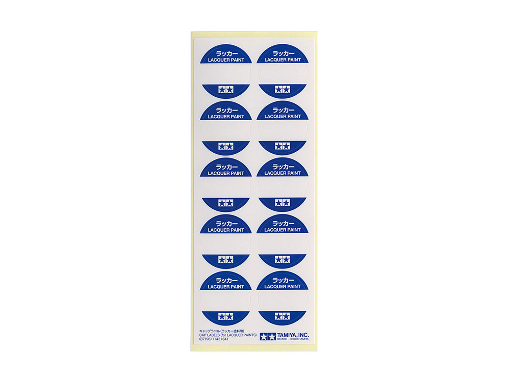 Cap Labels (for Lacquer Paints) - Image 1