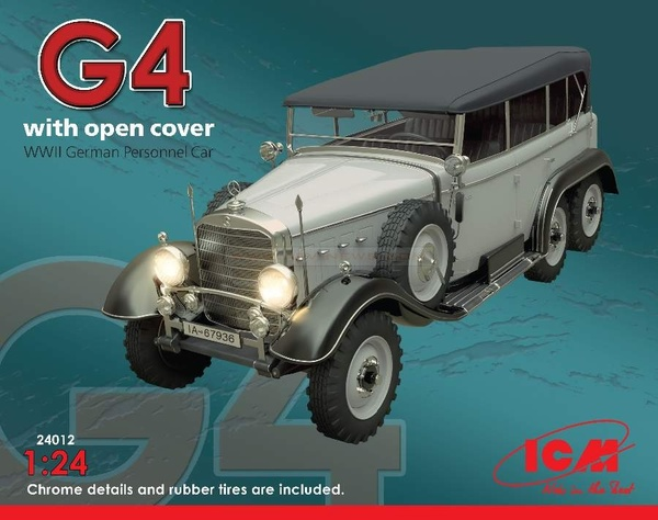 G4 with open cover WWII German Personnel Car - Image 1