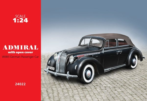 Admiral Cabriolet with open cover, WWII German Passenger Car - Image 1