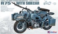 German IIWW Motorcycle BMW R75 with Sidecar