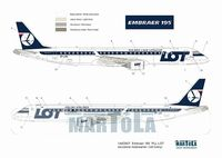 Embraer 195 PLL LOT wczene malow. - Image 1