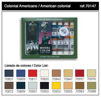 70147 Model Color - American Colonial Set
