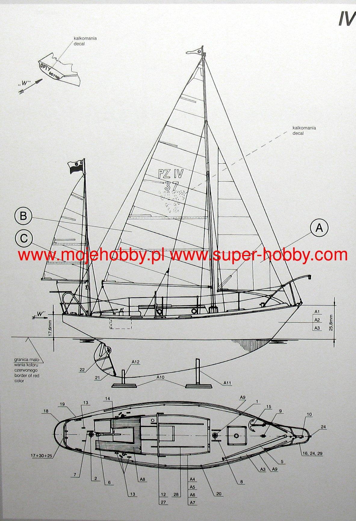 Mirage Hobby 508002 Modellbausatz S//Y OPTY Polish Sailing Yacht