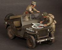 Major and 1 Lieutenant 101st Airborne Division, WW II 2 figures - Image 1