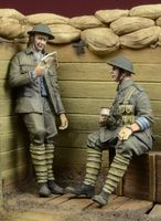 In a Trench - WWI British Infantry at rest - Image 1