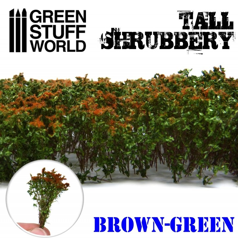 Tall Shrubbery - Brown Green - Image 1