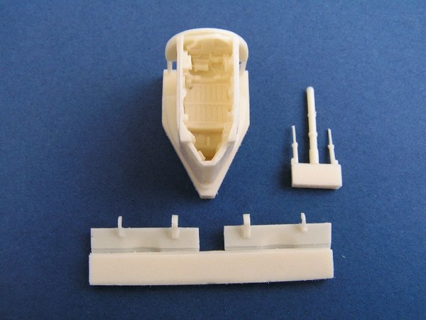 Upgrade for all Harrier nose wheel bay for Hasegawa - Image 1