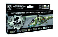 "71601 Air War Color Series - Soviet/Russian Colors Combat Helicopters from ""Cold War"" to present - set"