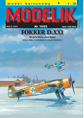 Finnish fighter FOKKER D.XXI (IV finnish series, Wasp engine ) - Image 1
