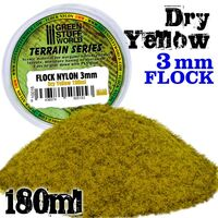 Flock Nylon 3mm - Dry Yellow Grass  180ml - Image 1