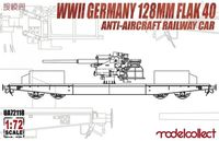 WWII Germany 128mm Flak 40 Anti-Aircraft Railway Car