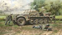 Sd.Kfz. 10 Demag D7 with German Paratroops