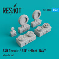 F4U Corsair / F6F Hellcat NAVY wheels set - Image 1