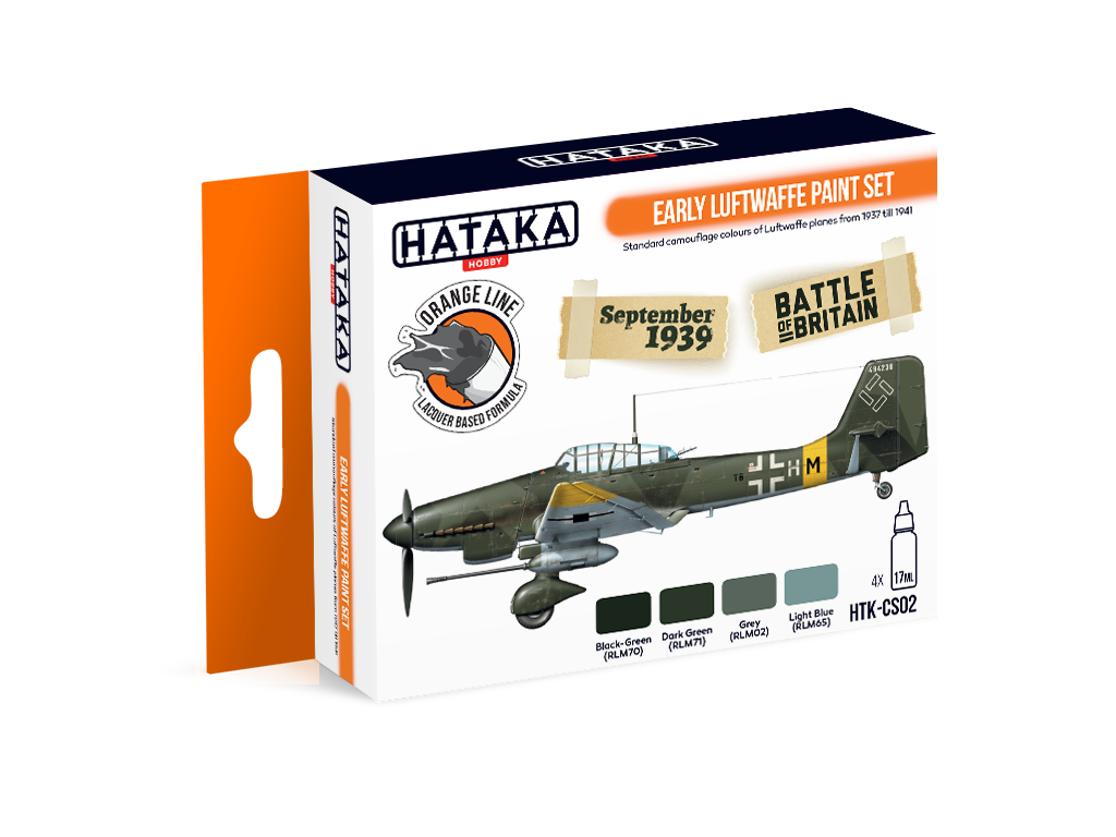 HTK-CS02 Early Luftwaffe paint set - Image 1