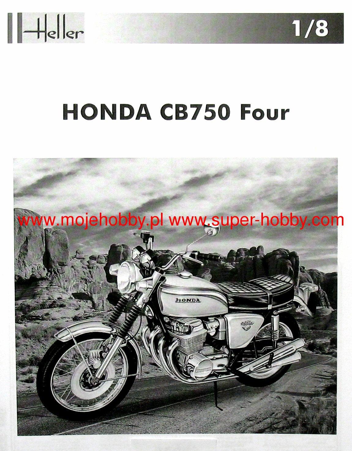 Heller 40 Maquette Echelle 40/40 Honda Cb 40 Four Kit 40 roues