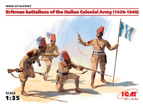 Eritrean battalions of the Italian Colonial Army (1939-1940) (4 figures) - Image 1