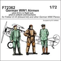 German WWI Airmen - 2 pilot + mechanic