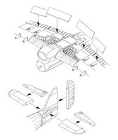Typhoon Mk.I - Control surfaces set for Airfix