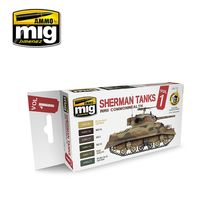 A.MIG-7169 Sherman Tanks Vol. 1 (WWII Commonwealth) Set