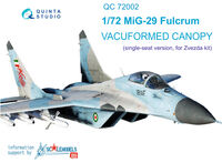 MiG-29 vacuformed clear canopy - Image 1