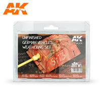 AK-4176 UNFINISHED GERMAN VEHICLES WEATHERING SET