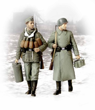 German soldiers in winter coats 1944/1945 (Supplies at last) - Image 1