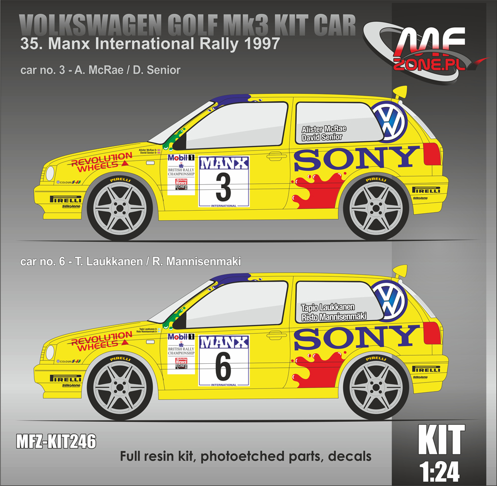 Volkswagen Golf MK3 Kit Car Mcrae, Laukkanen - 35. Manx International Rally 1997 - Image 1