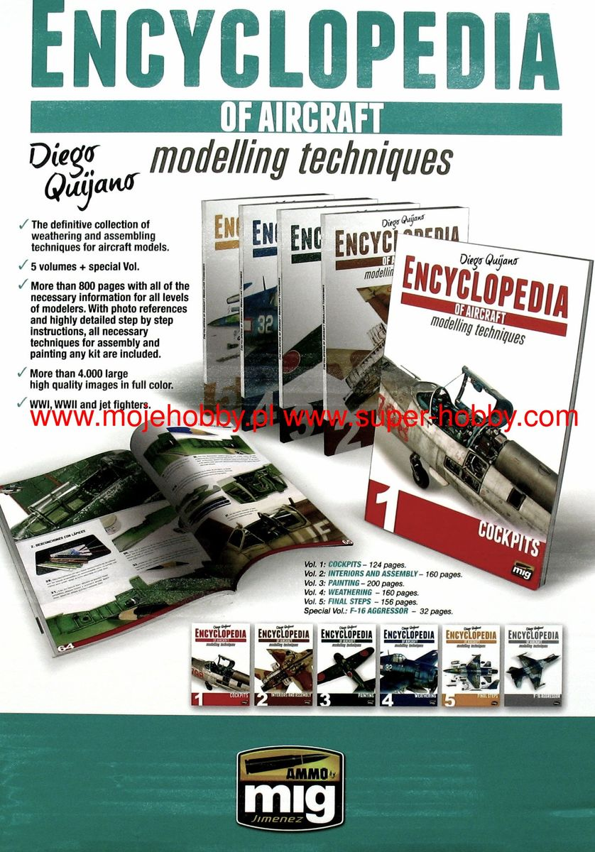 COMPLETE ENCYCLOPEDIA OF AIRCRAFT MODELLING TECHNIQUES (English) 5 volumes - Image 1