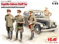 Kapitan Saloon Staff Car with Soviet Staff Personnel