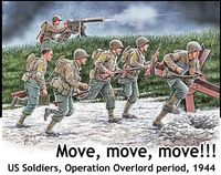 Move, move, move US Soldiers, Operation Overlord period, 1944