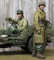 WW2 US NCO & Driver Set (2 figs) - Image 1