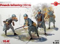 French Infantry (1916) 4 figures - Image 1