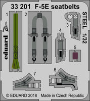 F-5E seatbelts STEEL  KITTY HAWK - Image 1