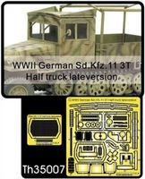 WWII German Sd.Kfz.11 3T Half truck late version