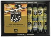 Model Air Metallic Effects 16 Color Set