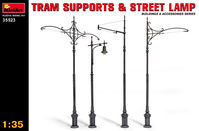 Tram supports and street lamp - Image 1