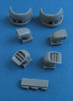 BAe Harrier GR.9 - engine intakes and exhaust nozzles for Airfix - Image 1