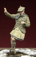 WWI Scottish Infantryman playing football - Image 1