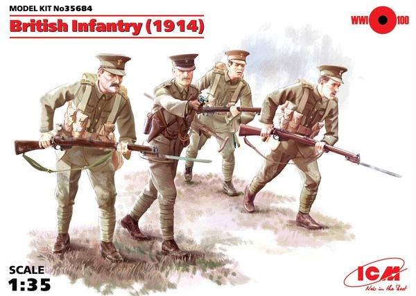 British Infantry (1914), (4 figures) - Image 1