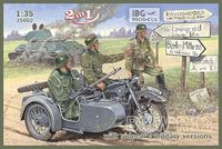 BMW R12 with sidecar Military - 2 in 1